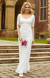 Claudia Lace Wedding Gown Bright Ivory