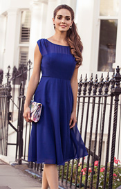 Cici Midi Evening Gown Cobalt Blue