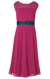 Cici Midi Evening Gown Tea Berry
