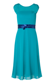 Cici Midi Evening Gown Viridian Green