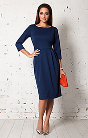 Emily Shift Day Dress Deep Ultramarine