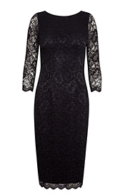 Katherine Lace Occasion Dress (Black)