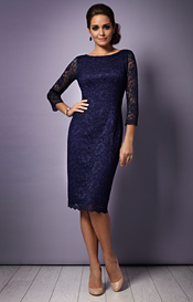 Katherine Lace Occasion Dress (Midnight)