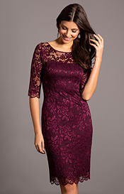 Lila Occasion Dress Short Claret