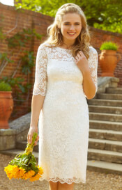 Lila Wedding Dress Short Ivory