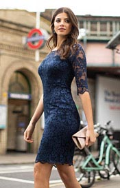 Lila Lace Dress Navy