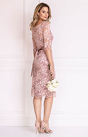 Lila Occasion Dress Short Vintage Rose