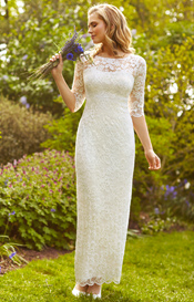 Lila Wedding Gown Long Ivory