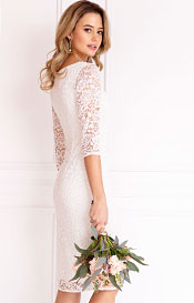 Macie Shift Wedding Dress Ivory