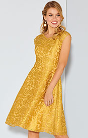 Paris Occasion Dress Short Saffron Gold