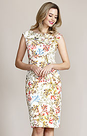 Pippa Shift Dress Watercolour Meadow