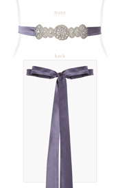 Aurelia Vintage Sash in Grape