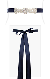 Aurelia Vintage Sash (Midnight Blue)