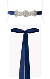 Aurelia Vintage Sash Windsor Blue