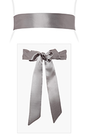 Smooth Satin Sash Slim Charcoal