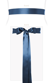 Smooth Satin Sash Slim Lagoon Blue