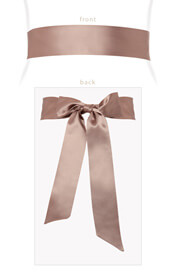 Smooth Satin Sash Antique Blush