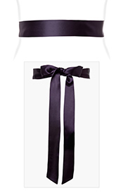 Smooth Satin Sash Blackberry