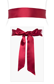 Smooth Satin Sash Deep Raspberry