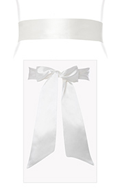 Smooth Satin Sash Ivory