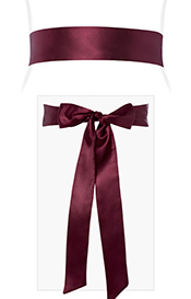 Smooth Satin Sash Mulberry