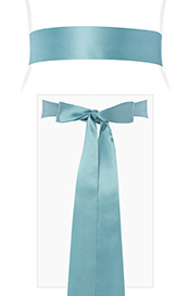 Smooth Satin Sash Long (Peppermint)