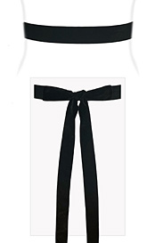 Velvet Ribbon Sash Black