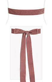 Velvet Ribbon Sash Dusty Rose