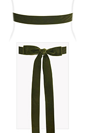 Velvet Ribbon Sash Moss Green