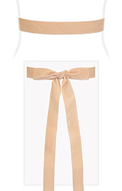Velvet Ribbon Sash Pale Peach