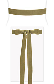 Velvet Ribbon Sash Sage Green