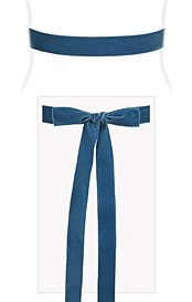 Velvet Ribbon Sash Williamsburg Blue