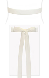 Velvet Ribbon Sash White