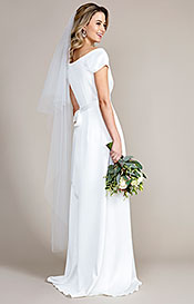 Cut Edge Wedding Veil Long (Ivory White)