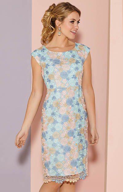 Atlanta Dress Short Pastel Daisy by Alie Street London