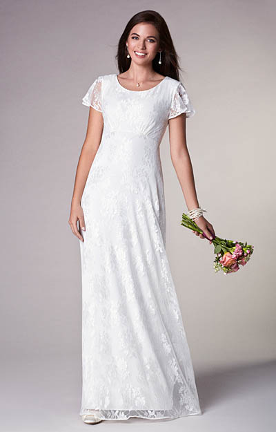Alice Wedding Gown Long Ivory by Alie Street London