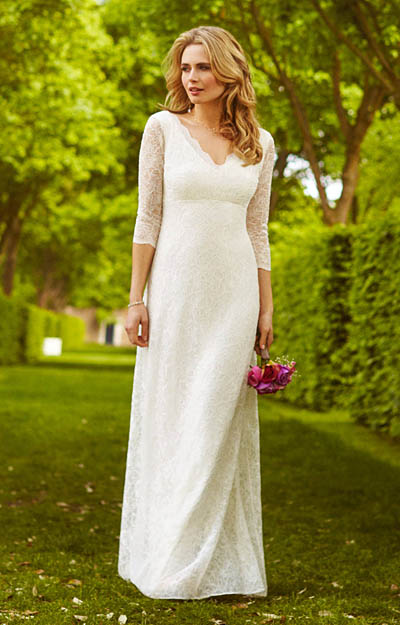 Anya Lace Wedding Gown Ivory by Alie Street London