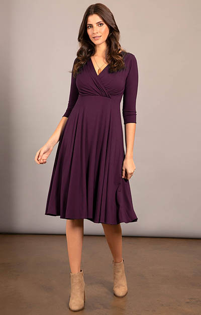Annie Dress Claret by Tiffany Rose