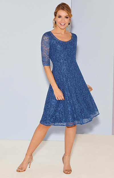 Arabella Dress Short Riviera Blue by Alie Street London