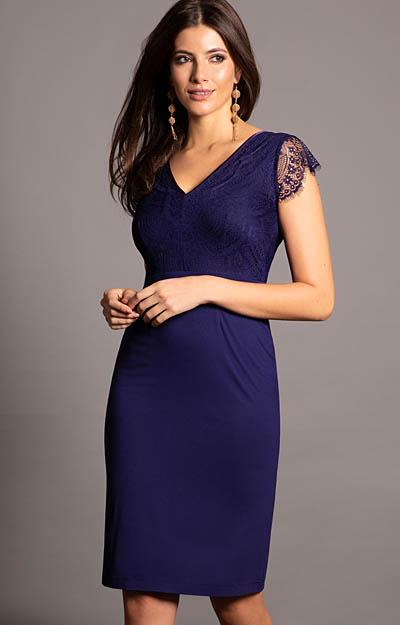 582facceb1199 ... Bella Evening Shift Dress (Indigo Blue) by Alie Street ...