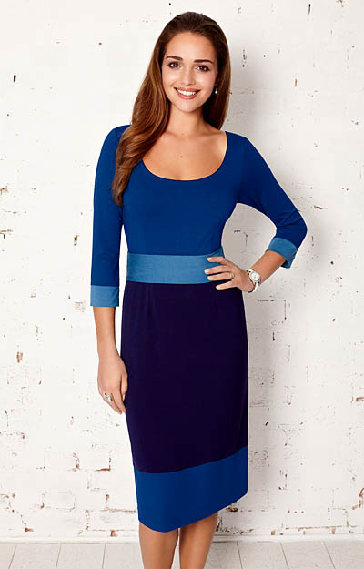 Colour Block Dress Dazzling Blue by Tiffany Rose