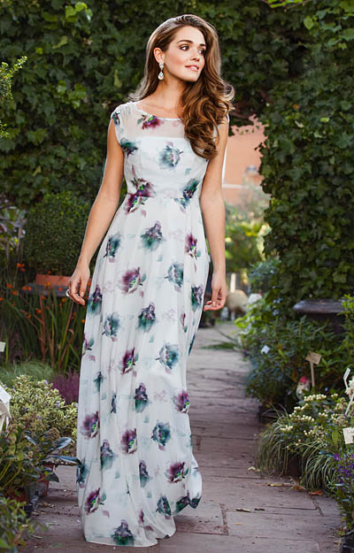 Cici Evening Gown Dusky Floral by Tiffany Rose