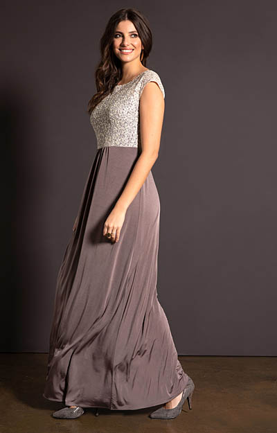 Coco Gown Dusky Truffle by Tiffany Rose