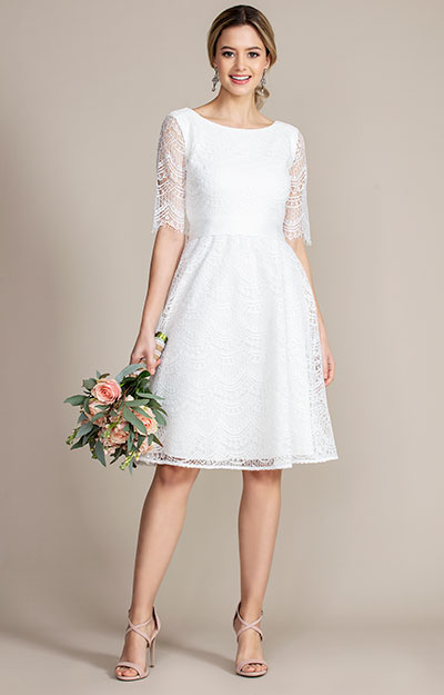 Evie Lace Dress short Ivory by Tiffany Rose