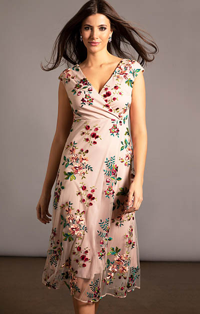 Grace Midi Dress (Blushing Blooms) by Tiffany Rose