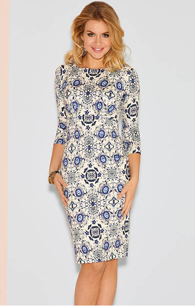 Holly Dress Short Porcelain Blue by Tiffany Rose