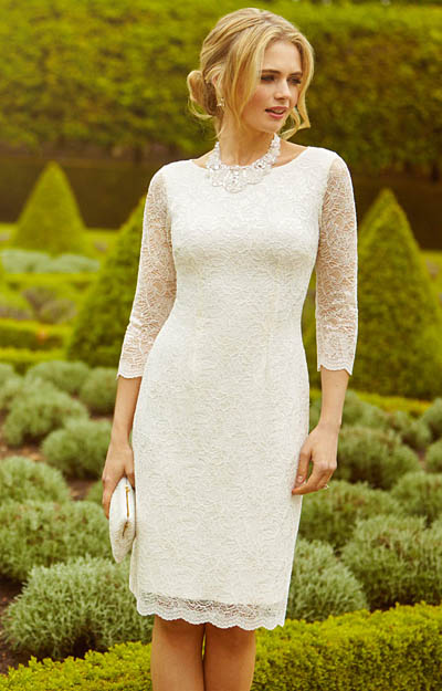 Katherine Lace Wedding Dress Ivory by Alie Street London