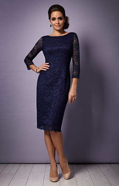 Katherine Lace Occasion Dress (Midnight) by Tiffany Rose