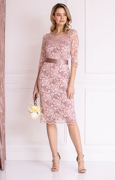 Lila Occasion Dress Short Vintage Rose by Alie Street London