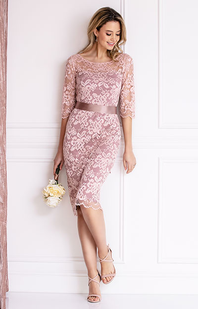 Lila Occasion Dress Short Vintage Rose Evening Dresses